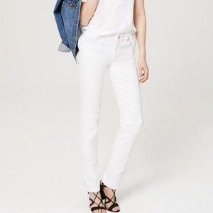 Loft Straight Leg White Jeans